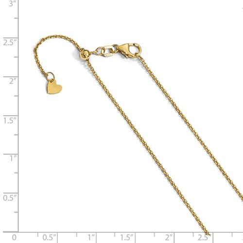 14K Yellow Gold Anchor Pendant on an Adjustable 14K Yellow Gold Chain Necklace