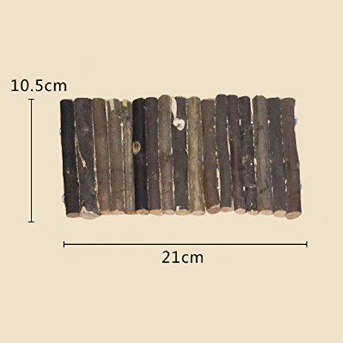 OMEM Wood fences ladders, wooden toy hamster small pet supplies pet hamster cage ladder bridge wood (S) by OMEM (Image #3)