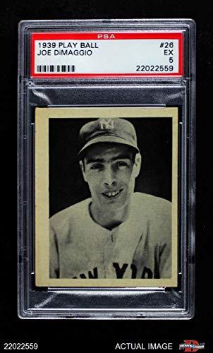 1939 Play Ball # 26 Joe DiMaggio New York Yankees (Baseball Card) PSA 5 - EX Yankees