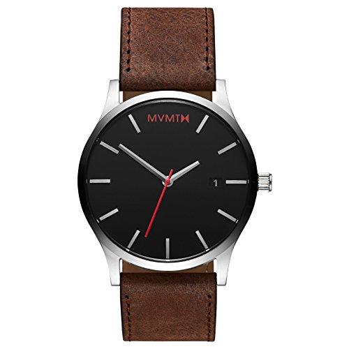 MVMT Classic Watches | 45 MM Men's Analog Minimalist Watch | Silver Brown