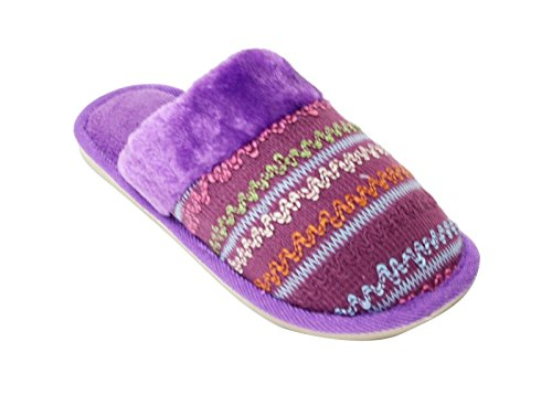 Slippers Bull House Cold 02 Purple Rfw Mules Weather On Indoor for Womens Slip Happy Shoes Shoes Mens nESHpn
