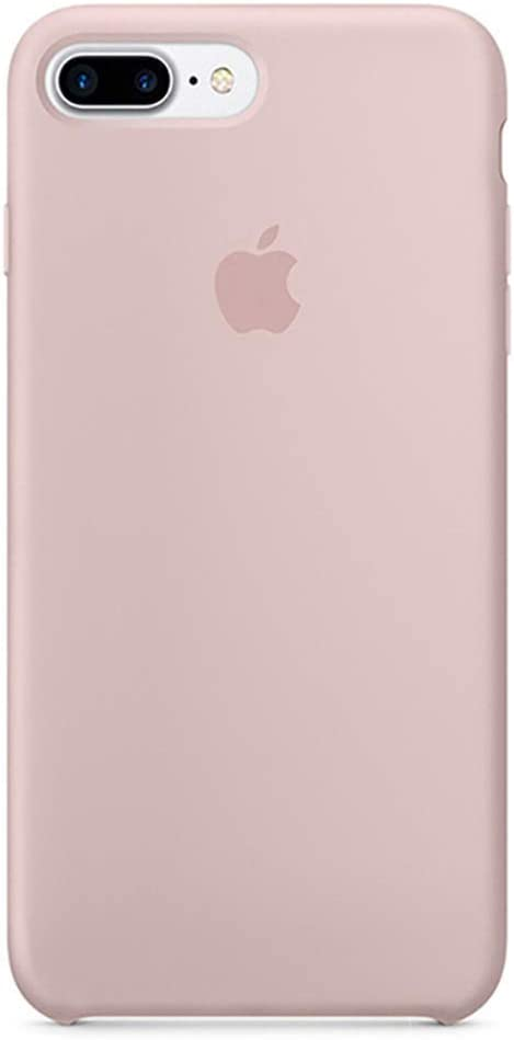 Anti-Drop iPhone 8 Plus / 7 Plus (5.5Inch) Liquid Silicone Gel Case, TOSHIELD Soft Microfiber Cloth Lining Cushion for iPhone 8 Plus and 7Plus (Sand Pink)