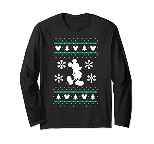 Mickey Mouse Christmas Sweater Long Sleeve T-shirt