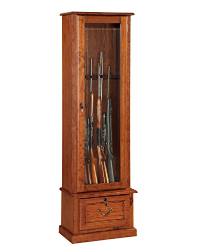 American Furniture Classics Glass Door Display Cabinet (Best Gun Cabinet Under 200)