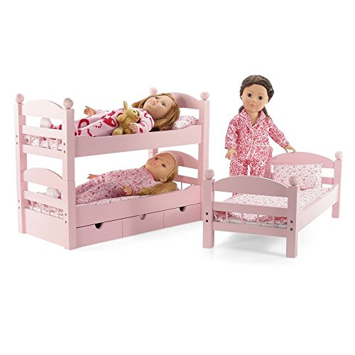 18 inch doll triple bunk bed