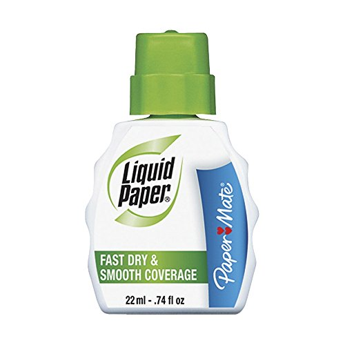 Wholesale CASE of 10 - Paper Mate Liquid Paper Fast Dry Correction Fluid-Correction Fluid, Fast Drying, 22ml, Bright White by PAP