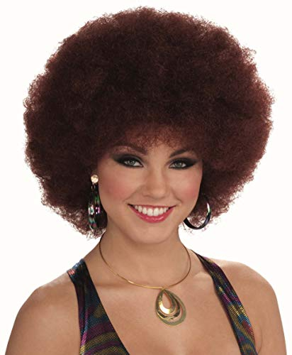 Forum Novelties Women's 70's Disco Doll Afro Wig, Auburn, One ()
