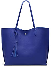 Women s Soft Leather Tote Shoulder Bag from Dreubea 78d14711002ce