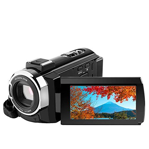 Travel Camcorders - 4K Camcorder Video Camera,Regemoudal 1080P 4k 128GB 48MP 3 Inch WiFi Digital Video Camera Camcorder,Capactive Touchscreen IR Infrared Night Vision 16X Digital Zoom Recorder