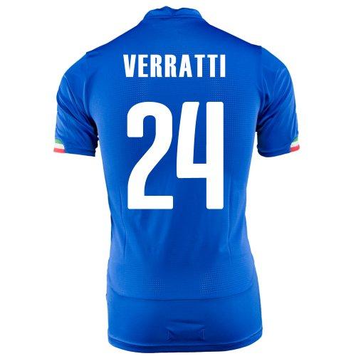 巧みな著名なバリーPUMA VERRATTI #24 ITALY HOME JERSEY WORLD CUP 2014/サッカーユニフォーム イタリア代表 ホーム用 ワールドカップ2014 背番号24 ヴェッラッティ