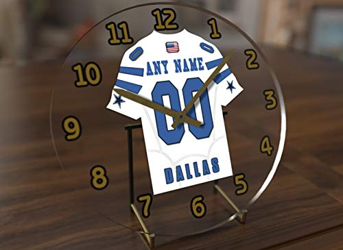 Football Team Desktop/Shelf Clocks - All N F L Colors Available - Size 7