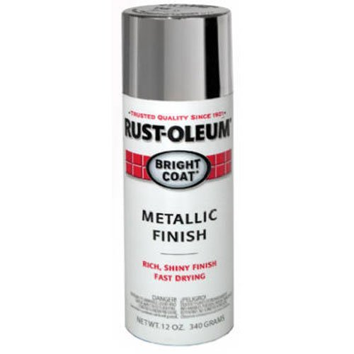 Rust oleum 7715830 bright coat metallic color spray aluminum 11 ounce tools home Metallic spray paint colors