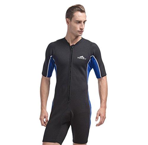 Men's One-piece Swimwear 2mm Neoprene Wetsuits Modest Swimsuits for Women Surfing Suit Winter swimming Jellyfish Swimsuit (Int'l-2XL - Swimsuit Neoprene Mens