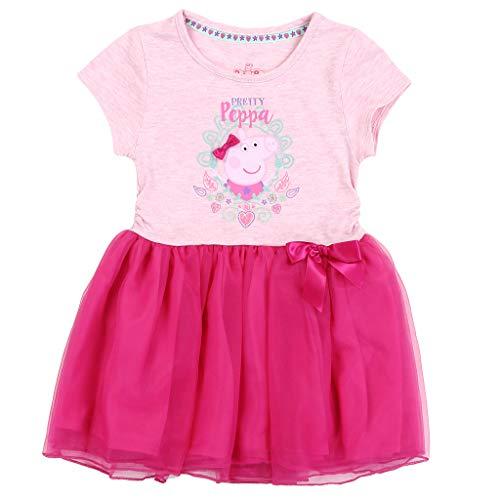 Peppa Pig Girls' Toddler Pretty Peppa Graphic-Print Tutu-Dress, Pink/Multi, 2T ()
