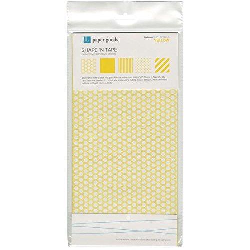 QUICKUTZ Lifestyle Crafts Shape N' Tape Sheet, Yellow