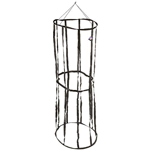 Halloween Haunters Hanging 6 Foot Round Prison Jail Cell Cage Prisoner Prop Decoration - Hold Party Guests in A Spooky Life-Size Jail - Scary Fake Bars & Chains - Haunted House Dungeon Display -