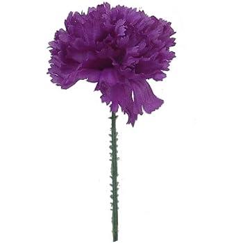 Amazon 100 carnations 5 purple artificial silk flower pick 100 carnations 5 purple artificial silk flower pick multiple colors available mightylinksfo