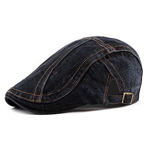 ZLSLZ Men's Cotton Denim Newsboy Ivy Irish Cabbie Golf Peaked Cap Hat - Ivy Denim Cap