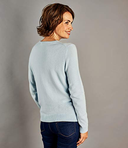 Rond À Cardigan Femme Blue Cachemire Wool Soft Overs Col xO7BgBSwq
