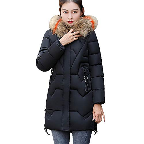 All Jacket Fox Weather (kaifongfu Winter Warm Overcoat,Women Faux Fur Hooded Warm Thick Jacket (Black,M))