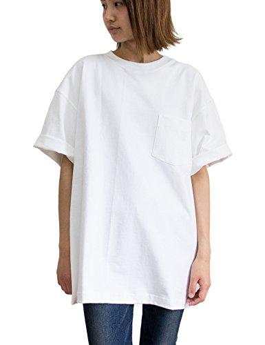 薬を飲むメタンじゃないCAMBER(キャンバー) 8oz MAX WEIGHT ポケット付きTシャツ 302 (Sサイズ, ホワイト)