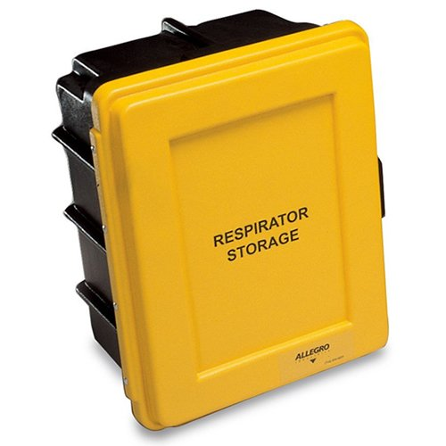 Allegro Industries 4400 Respirator Storage Case, 14'' x 9.5'' x 18'', Yellow by Allegro Industries