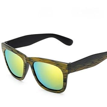 KLXEB Mujer Gafas De Sol Polarizadas Gafas De Bambú De Grano Joker Viejos Sabios Gafas De Sol Uv400,Verde: Amazon.es: Deportes y aire libre