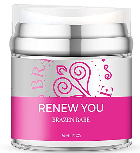 Brazen Babe Renew You Telomere Repair Night Cream for Face and Neck, Naturally Derived Formulation with Squalane and Hyaluronic Acid, Gluten Free, Paraben Free, 1 fl. oz. ()