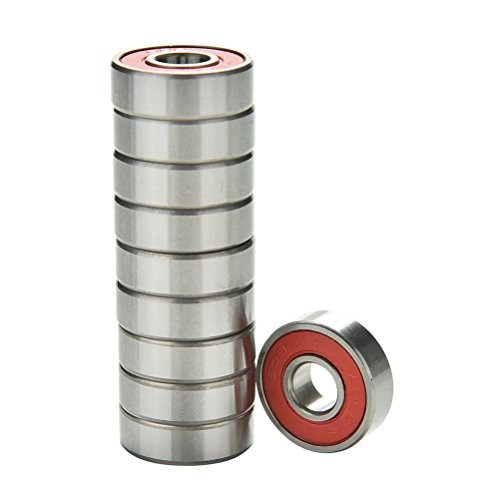 happu-storetm-10-pcs-red-abec-9-high-performance-skate-scooter-skateboard-wheel-bearings
