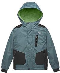 Wantdo Boy's Hooded Ski Jacket Waterproo...