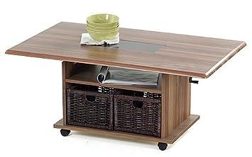 couchtisch h henverstellbar nussbaum. Black Bedroom Furniture Sets. Home Design Ideas