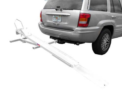 Kage Racing ST3401 Hitch Mounted Motorcycle and Dirt Bike Carrier Hauler Rack with Ramp