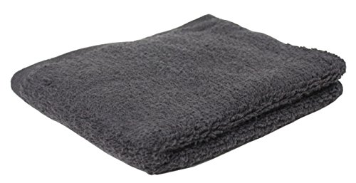 Premium 72-Piece Bulk Pack Cotton Hand Towel Set, 16x27'', Hotel & Spa Quality, Super Soft and Ultra Absorbent for Commercial Business-Dark Gray by J&M Home Fashions