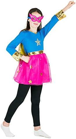 Bodysocks® Disfraz de Superhéroe Niña (6-8 años): Amazon.es ...