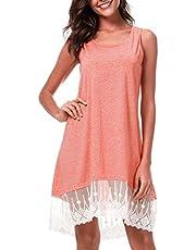 Ladyzone Women's Short Sleeve Tunic Casual T-Shirts Tops Cold Shoulder Tunic Tee Shirts