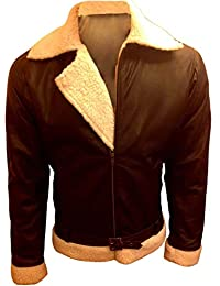 Leather Jacket for Men Bomber Biker Motorcycle Sylvester Stallone Rocky Balboa