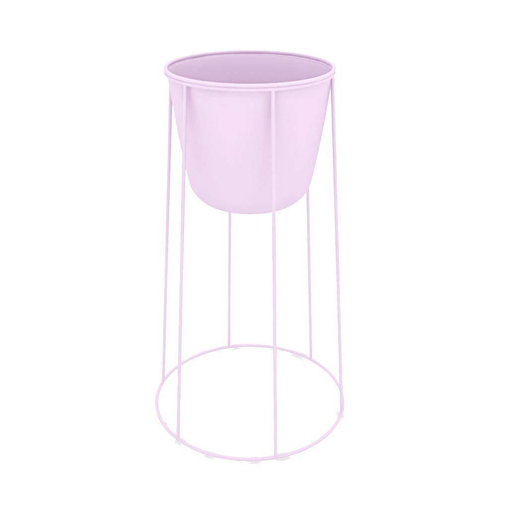 Nordic Minimalista Flower Stand Balcone Vaso in Ferro battuto Soggiorno Pavimento in Bonsai Metallo Stand Fiore in Metallo (colore   rosa, Dimensioni   41cm)