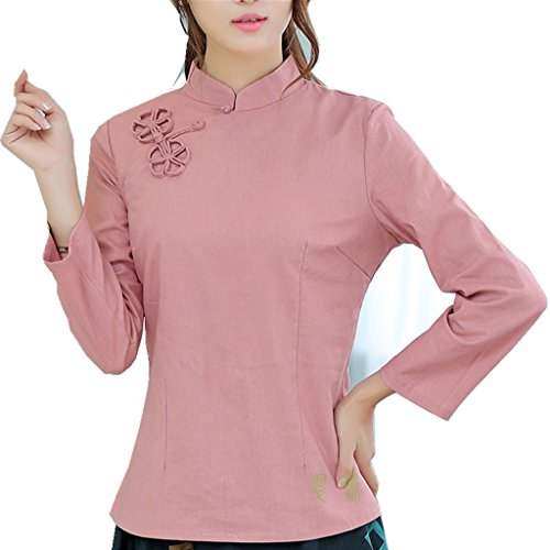 shanghai-story-chinese-oriental-long-sleeve-tang-qipao-top-solid-blouse-10-pink