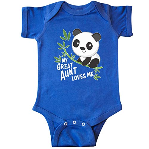 inktastic My Great Aunt Loves Me- Cute Panda Infant Creeper 6 Months Royal Blue