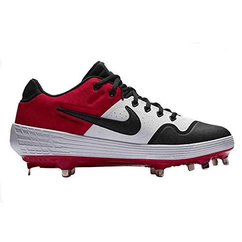 Nike New Mens Alpha Huarache Elite 2 Low Metal Baseball Cleats White/Red 9.5M
