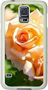 Blooming Flowers Pattern Galaxy S5 Case, Galaxy S5 Cases - Compatible With Samsung Galaxy S5 SV i9600 - Samsung Galaxy S5 Case Durable Protective Case for White Cover