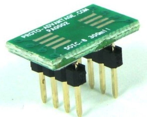 Proto-Advantage SOIC-8 to DIP-8 SMT Adapter (1.27 mm Pitch, 300 mil Body) ()