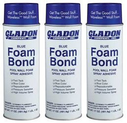 Gladon Spray Adhesive 17-Ounce Can, Pack of 3 ()
