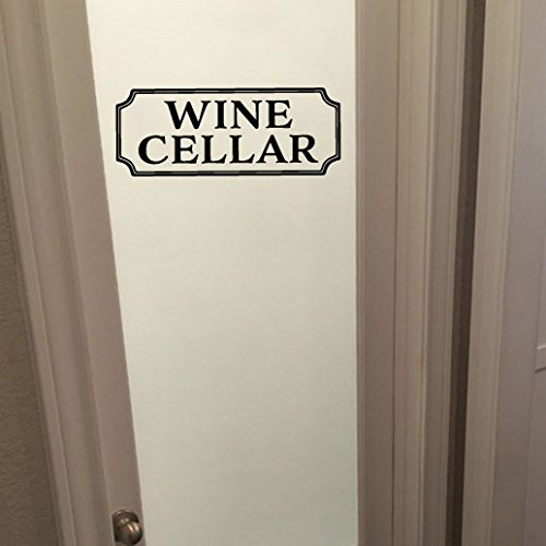 Wine Cellar Vinyl Wall Decal by Wild Eyes Signs. Wine Room Decal, Glass Door Decal, Vinyl Lettering, Rectangle Border Frame Sign, Wall Sticker, Vinyl Decal HH2161 (Quote Rectangle Sticker)