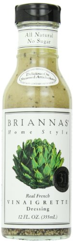 Briannas Dressing, Real French Vinaigrette, 12 Ounce (Pack of 4)