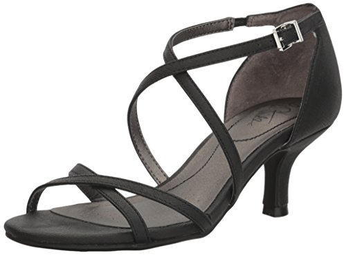 LifeStride Women's Flaunt Dress Sandal, Black, 9 W US
