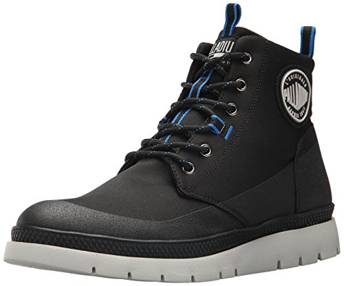 Palladium Men's Pallasider Coated Mid Chukka Boot, Black/Black/Black, 9 M US by Palladium