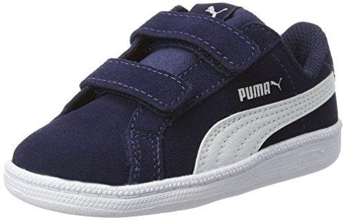 Unisex Zapatillas Azul Inf Funsd Niños Smash peacoat white V Puma XqwPUgSU