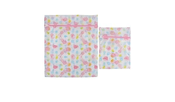 Amazon.com: eDealMax Nylon Inicio cremallera de cierre calcetines de la ropa Interior Calzoncillos El Lavado Bolsa 2 en 1: Home & Kitchen