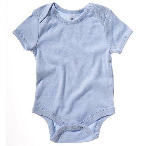 Bella+Canvas Short sleeve baby rib one-piece Baby Blue 1218